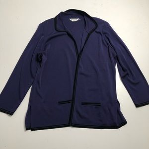 Misook Collection Purple Knit Cardigan Womens 2X
